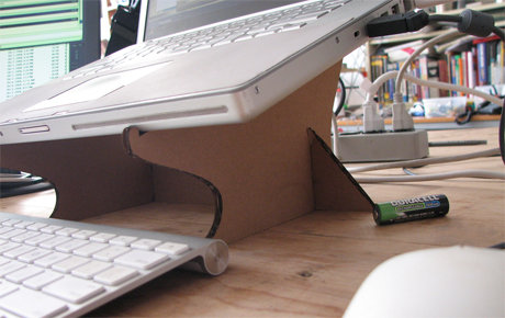 Cardboard laptop stand