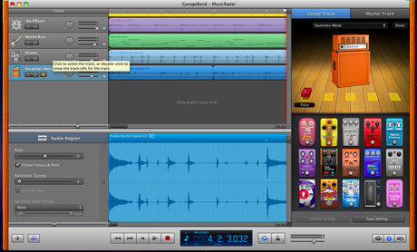 GarageBand amps and stomps