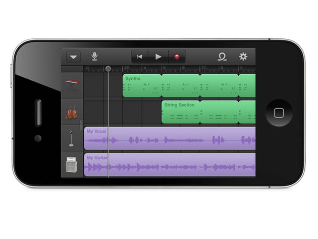 GarageBand on an iPhone? Yes indeed.