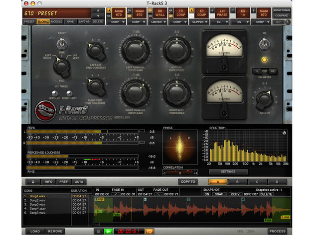 T-Racks 3 works standalone and as a plug-in.