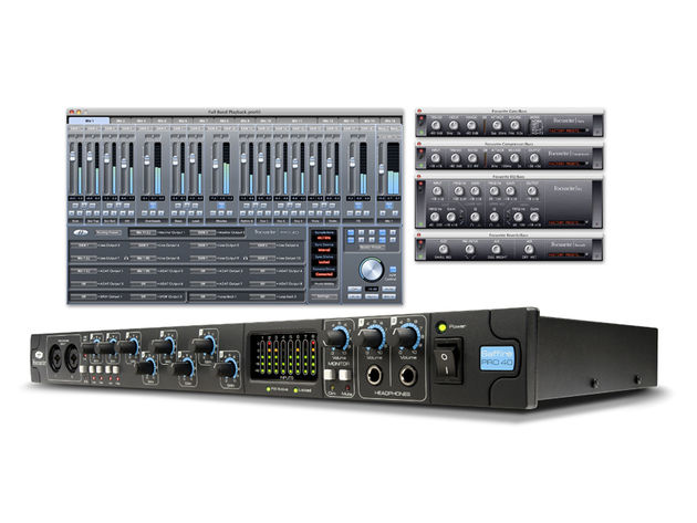 The Saffire Pro 40 interface comes with a suite of Focusrite plug-ins.