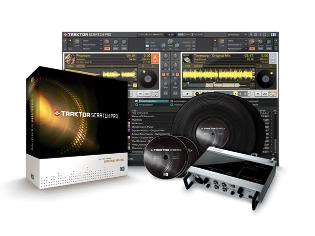 Traktor Scratch Pro adds an interface and timecoded vinyl/CDs.