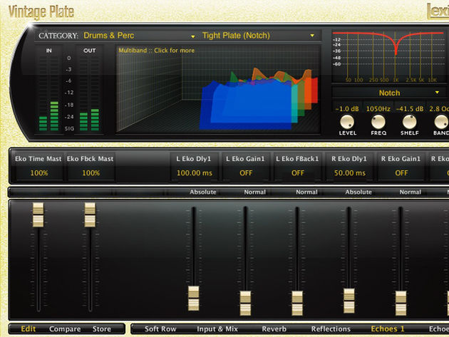 Lexicon PCM Native Reverb Plug-In Bundle: Vintage Plate is one of seven algorithms.