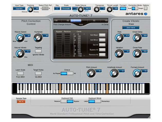 Auto-Tune 7's Automatic Mode can handle the majority of common pitch correction problems.