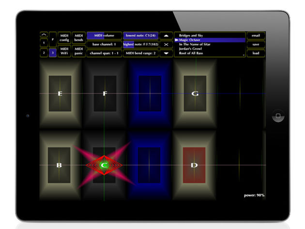 Jordan Rudess's Geo Synthesizer: click the image for more screenshots.
