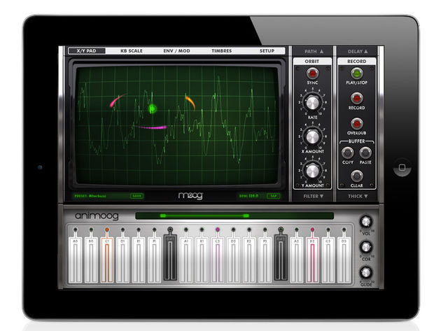 Moog Animoog: a pro-quality synth for the iPad? Click the image to see more screenshots.