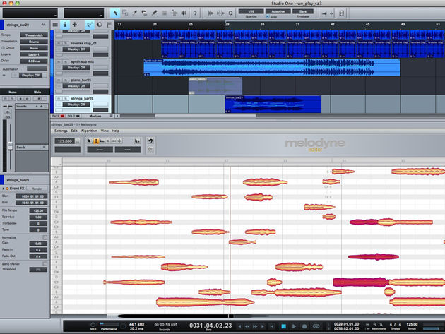 PreSonus Studio One v2: now with integrated Melodyne technology.