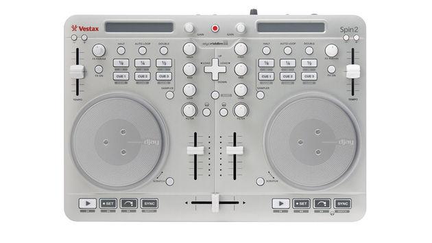 Vestax Spin 2: use it to control djay on your Mac or iOS device.