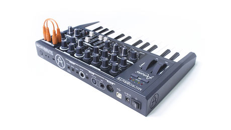 The MicroBrute is a semi-modular synth.