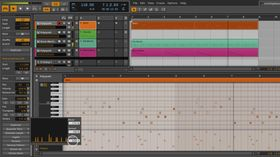 Bitwig Studio instrument clip handling previewed