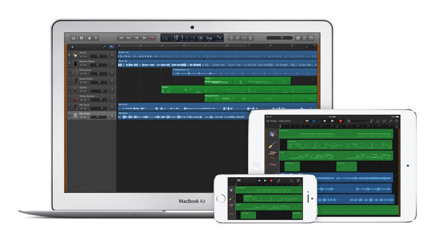 GarageBand has a distinct new look.