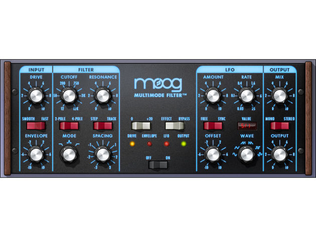 The new plug-in certainly looks like a Moog filter.