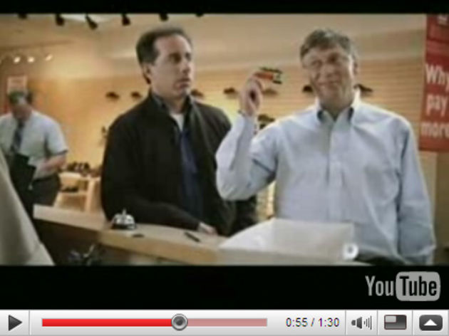 """Can I pay you by credit card, Jerry?"": Seinfeld and Gates laugh it up."
