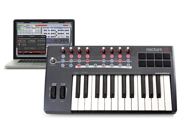 There are 25- and 49-note versions of the Nocturn Keyboard.