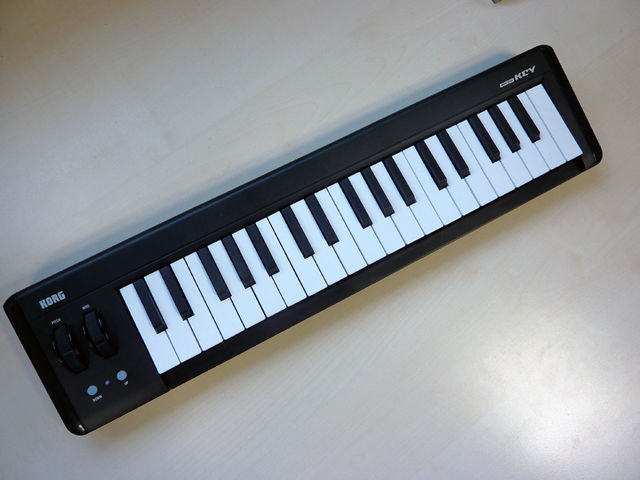 The microKey offers 37-note, velocity-sensitive playability.
