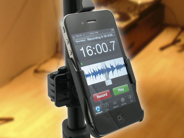 TelePad-4 keeps your iPhone close to hand.