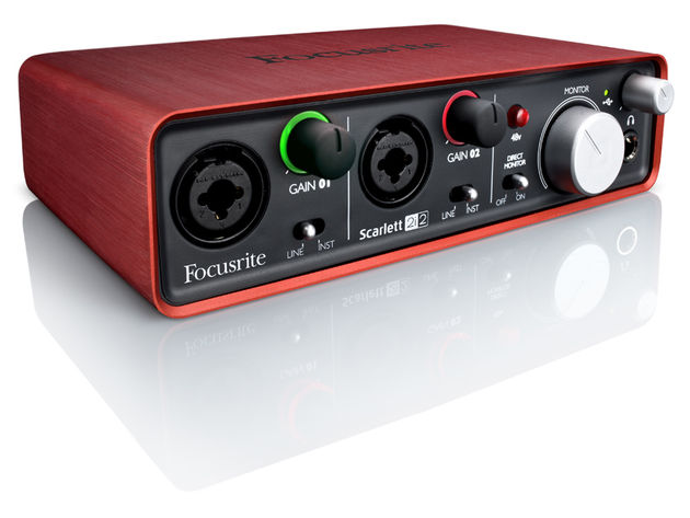 Focusrite's Scarlett 2i2 certainly looks striking. Click the image for other views.