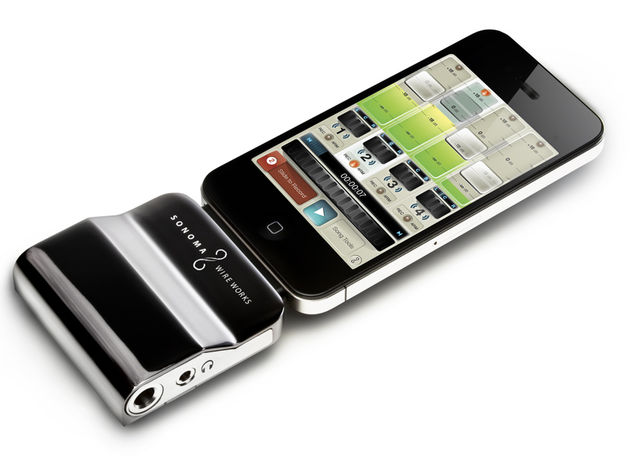 Unlike its predecessor, GuitarJack 2 is compatible with the iPhone 4. Click the image for close-up views.