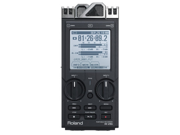 The R-26 is a portable recorder that gives you greater flexibility. Click the image for a gallery of photos.