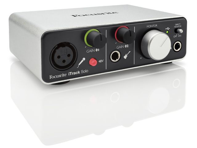 The iTrack Solo looks similar to Focusrite's Scarlett 2i2 USB.