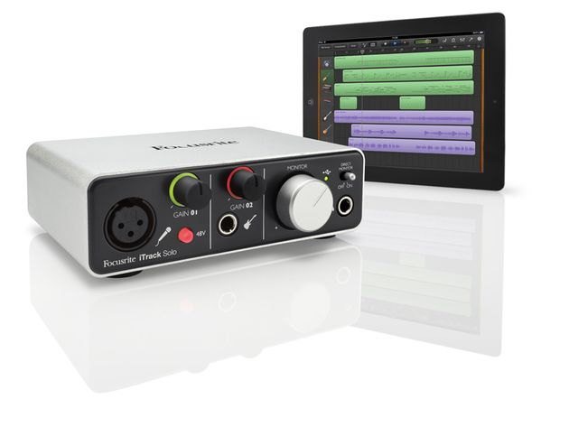 Focusrite's iTrack Solo is designed to be used with recording apps such as GarageBand. Scroll through for more pics.