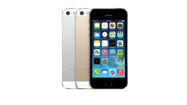The iPhone 5s will be available in a choice of three colours.