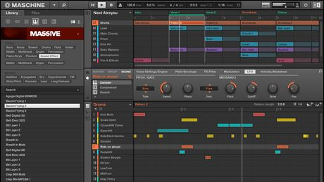 The Maschine 2.0 software.