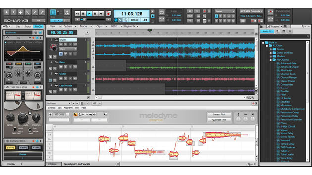 Cakewalk Sonar X3: les versions Studio et Producer possèdent le correcteur de pitch Melodyne