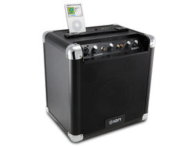 Tailgater iPod dock looks like a guitar amp