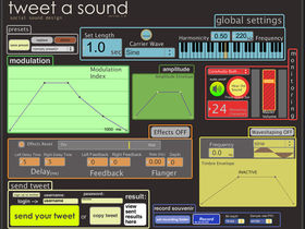 Share synth sounds via Twitter
