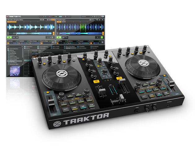 Native Instruments Traktor Kontrol S2 comprises software and a hardware interface/controller. Click the photo for an image gallery.