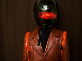 Man makes his own Daft Punk helmet