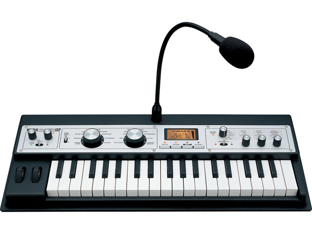 The microKORG XL has a streamlined retro interface.