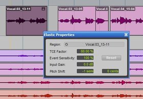 Elastic properties pro tools 8