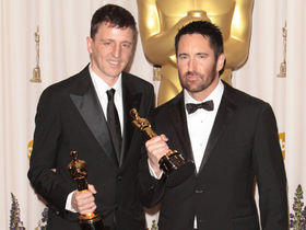 Trent Reznor and Atticus Ross win Oscar for The Social Network score