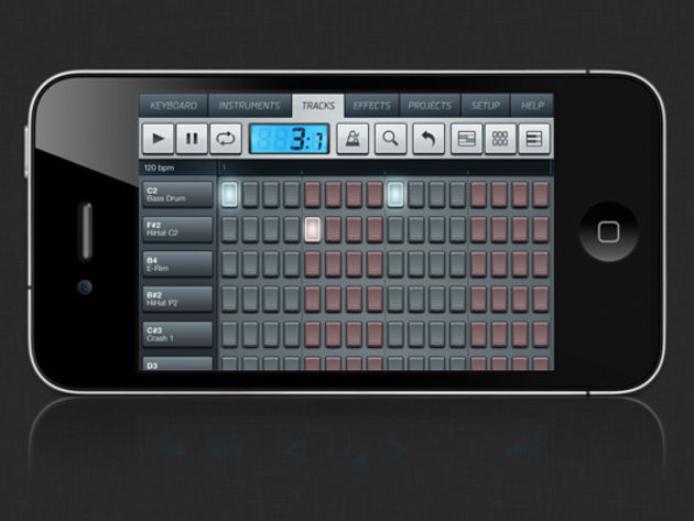 Anyone who's used FL Studio before will be familiar with the mobile version's step sequencer.