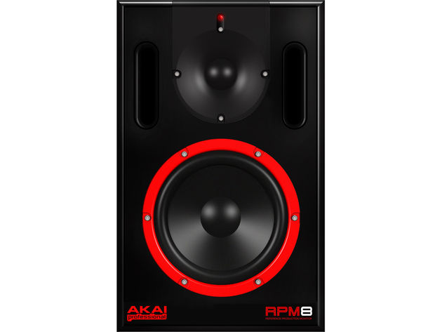 The AKAI RPM8: deals in heavy bass frequencies.