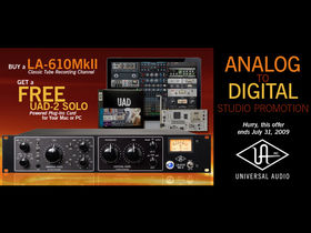 Buy recording channel, get UAD-2 Solo free