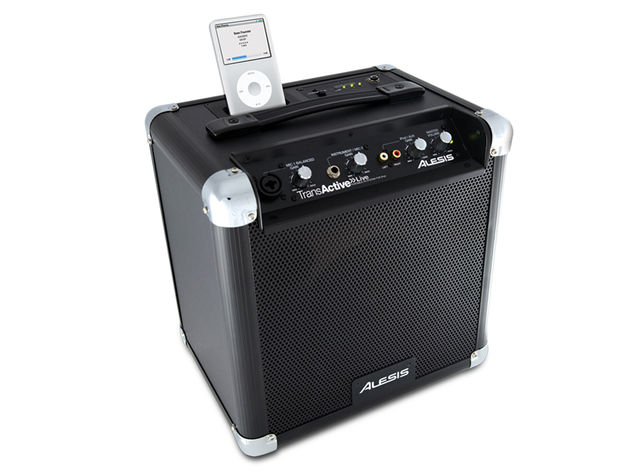 Alesis's TransActive Live can run for up to 12 hours on batteries.