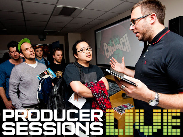 Dave Spoon meets the crowds at Producer Sessions Live 2010.