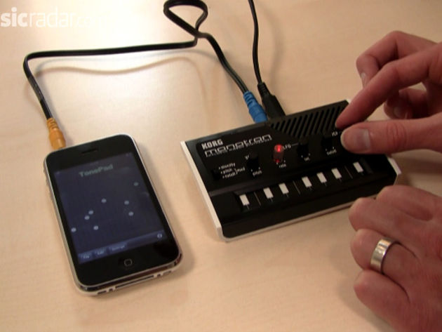 Find out what happens when you plug an iPhone into a monotron.