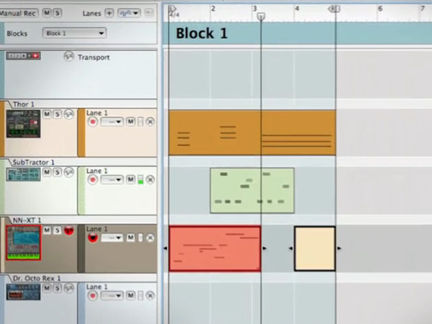 Blocks are designed to make song building easier.