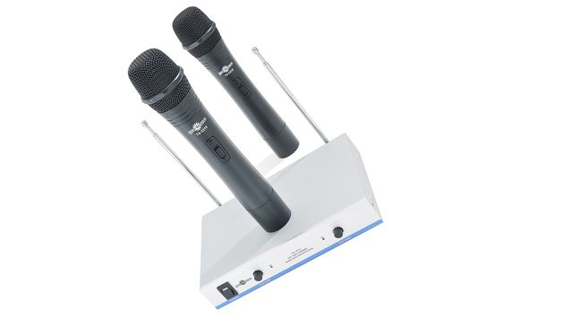 Gear4Music Dual Wireless Microphone System