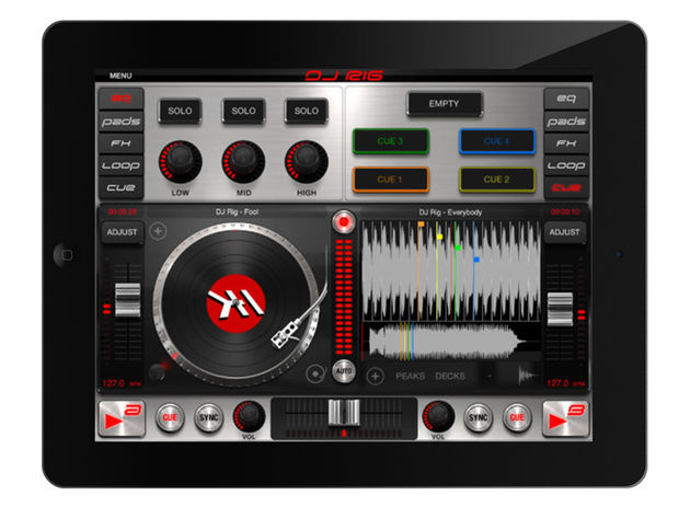 IK Multimedia DJ Rig for iPad/DJ Rig Free, £13.99/$19.99 // free