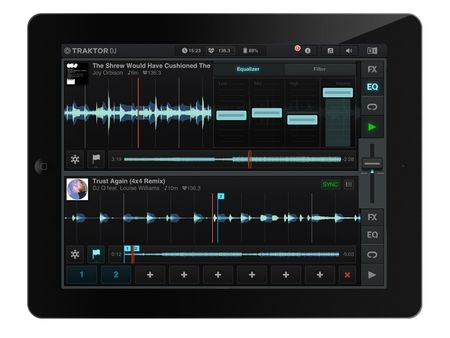 Native Instruments Traktor DJ iPad app: Hands-on video