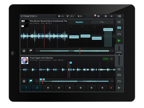 The interface will look familiar to Traktor Pro users