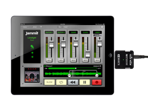 With Jammit software and the Line 6 Mobile In, you can be part of your favorite bands
