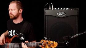 Peavey's Max 112 bass amp demoed