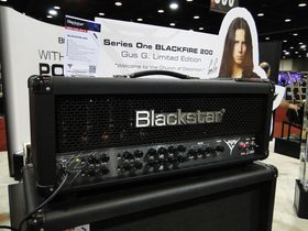 Summer NAMM 2012 video: Blackstar Gus G Blackfire 200 signature amp