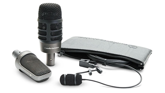 Two mics are from Audio-Technica's Artist Series, while the other model is from its Artist Elite series